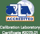 AZLA认可的校准实验室证书#2073.01